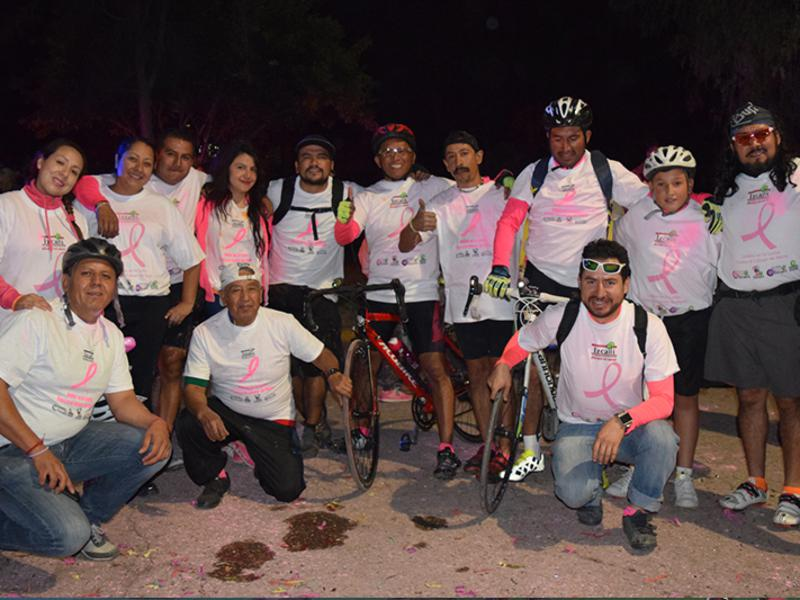 Cerca de 700 participantes  en la Primera Vuelta Ciclista  contra el Cáncer de Mama