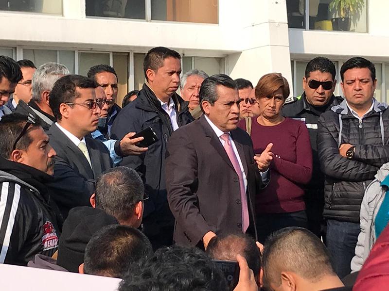 Protestan elementos de seguridad por salarios no recibidos desde diciembre