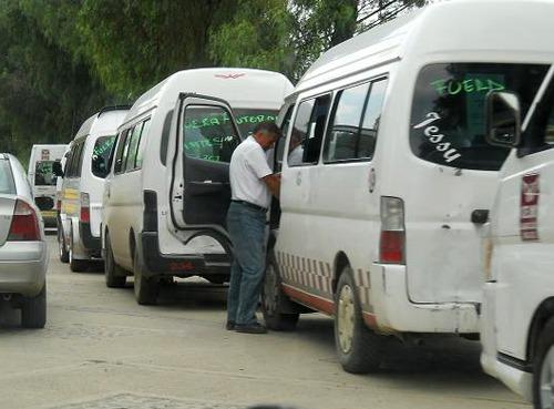 Harán marcaje personal a operadores del transporte público en Cuautitlán México