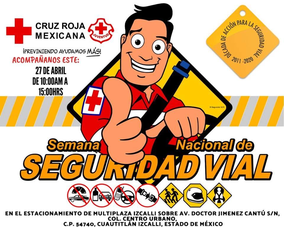"Realiza Cruz Roja la ""Semana Nacional de Seguridad Vial"""