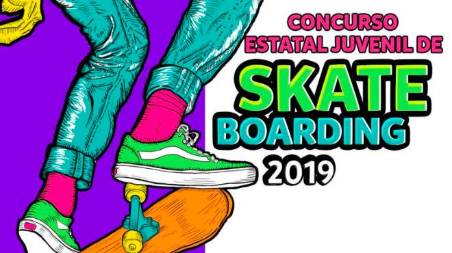 Convocan al Concurso Estatal Juvenil 2019 de Skate